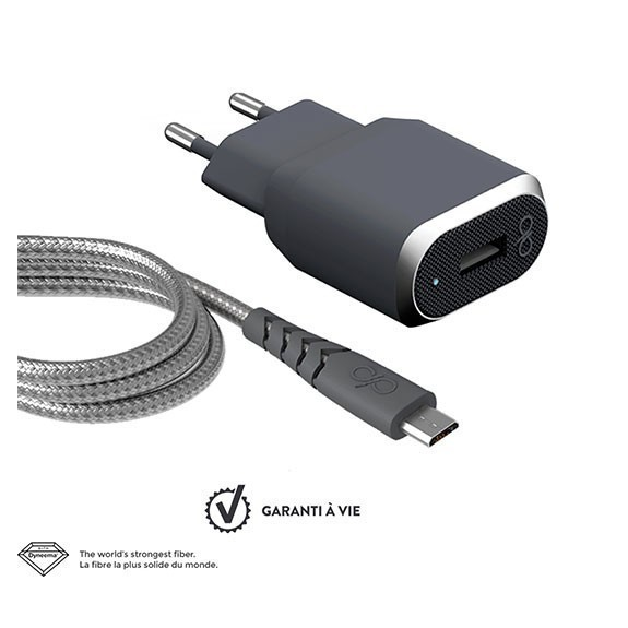 Base de chargeur 1 port USB-A + câble de charge Micro USB Force Power