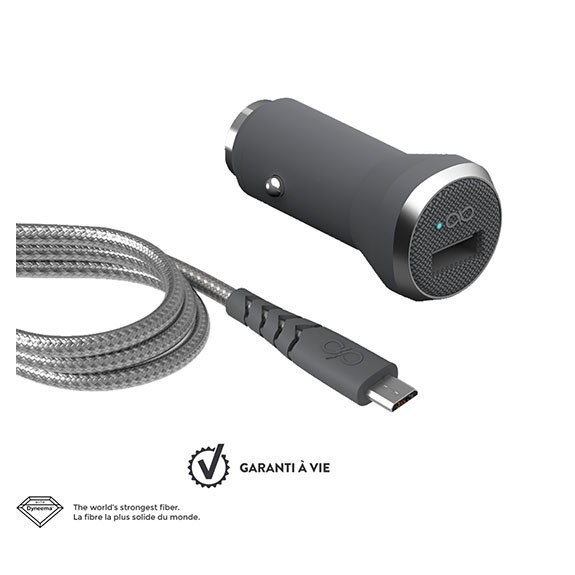 Chargeur voiture + câble de charge Micro USB Force Power