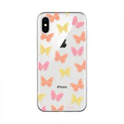 Coque souple motifs papillons