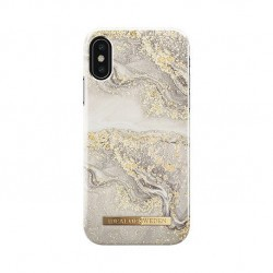 Coque rigide iDeal of Sweden Fashion Sparkle Greige Marble