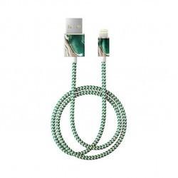 Câble tressé motif jade - 1m