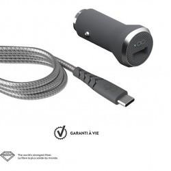 Chargeur Auto + Câble USB-C...