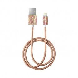 Câble Golden Blush Marble Lightning - 1 m