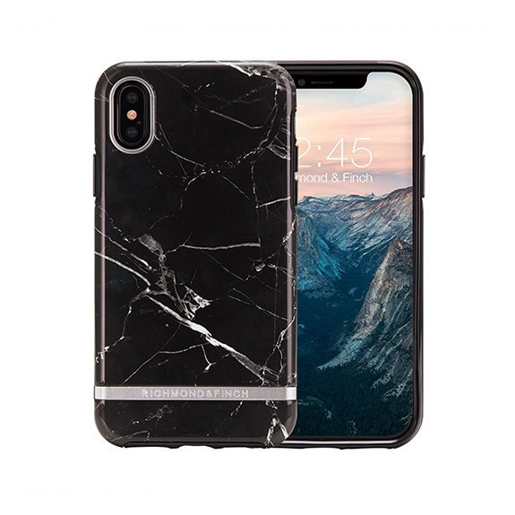 Coque de protection pour smartphones Richmond & Finch Black Marble