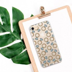 Coque de protection pour smartphones Flavr Diamond Rings