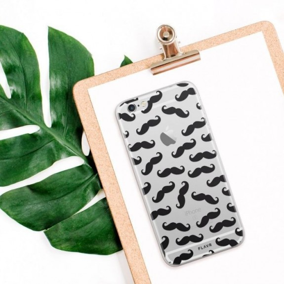 Coque de protection pour smartphones Flavr Moustache