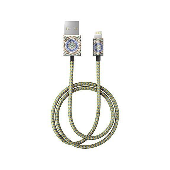 Câble tressé motif jungle colorée