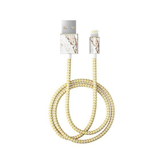 Câble tressé motif marbre doré