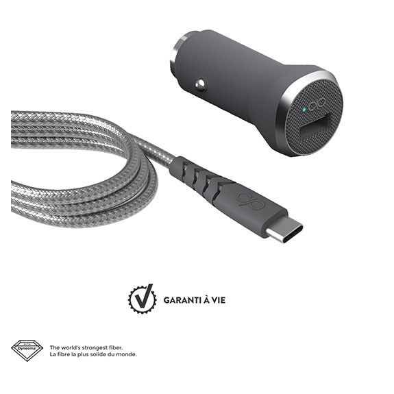 Chargeur voiture + câble de charge USB-C Force Power