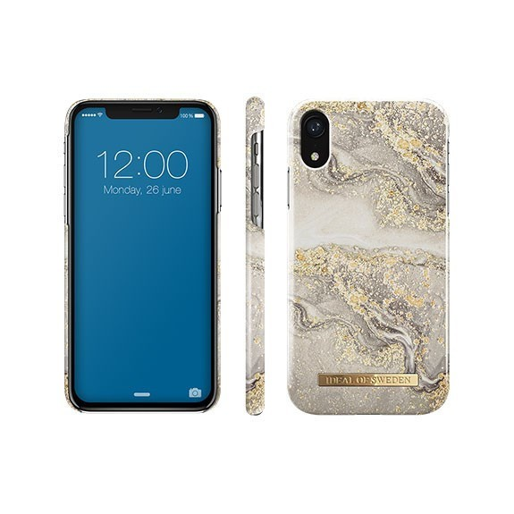 Coque rigide Fashion Sparkle Greige Marble Ideal Of Sweden