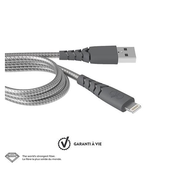 Câble de charge renforcé Lightning 1,2m Force Power
