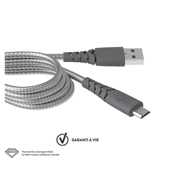 Câble de charge renforcé Micro USB 2m Force Power