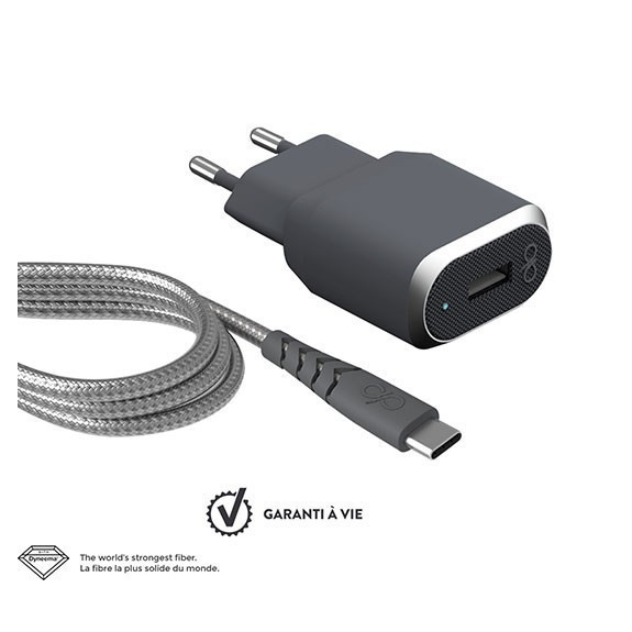 Base de chargeur 1 port USB-A + câble de charge USB-C Force Power