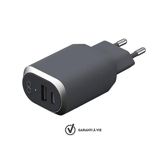 Base de chargeur 2 ports USB-A et USB-C Force Power