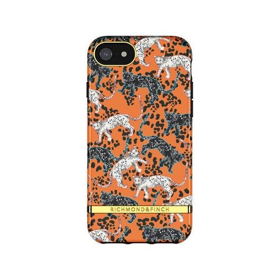 Coque Rigide Orange Leopard