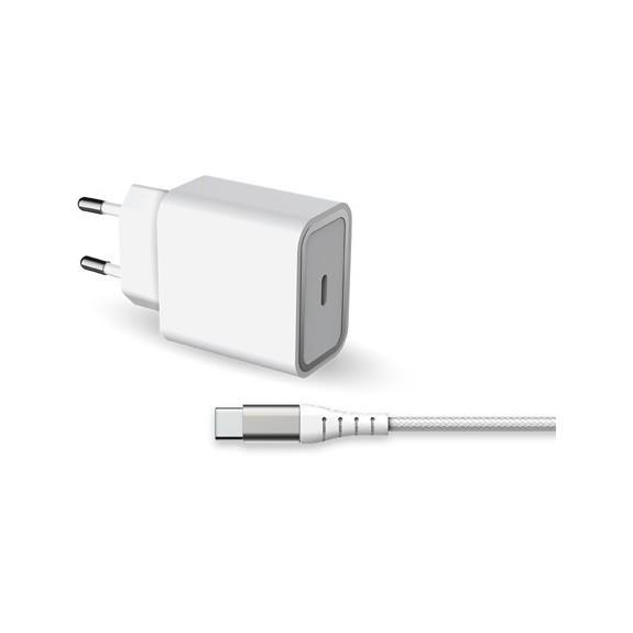 Chargeur 1 Port USB-C - 20W + Câble USB-C 1.2M