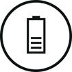 <h5>28 heures d'autonomie</h5><div>4 heures d'écoute ininterrompue + 24 heures de batterie de secours avec l'étui de recharge</div>}