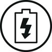 <h5>Recharge rapide</h5><div>2 heures vous offre jusqu'à 20 heures de lecture audio en Bluetooth</div>}
