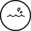 <h5>Waterproof</h5><div>Conçus en respectant la norme IPX7 pour vous accompagner sous l'eau</div>}