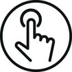 <h5>Commandes tactiles</h5><div>Boutons pour contrôler facilement le son (lecture, pause, volume, ordre des pistes…) et vos appels</div>}